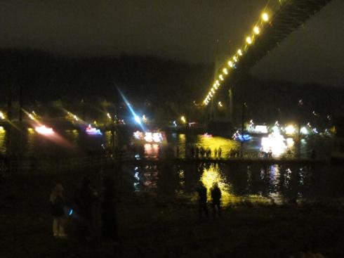 Christmas ships, Willamette River