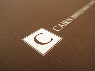 Cairn Financial Logo Letterhead Collateral Design by Jen