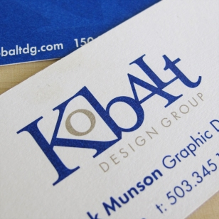 Kobalt Logo Business Card Design