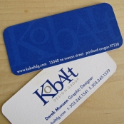 Kobalt Logo Business Card Design