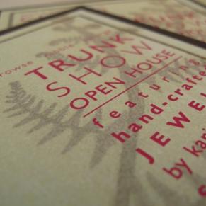 Trunk Show Invitation Design by Jen