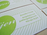 Letterpress Business Card Design by Jen
