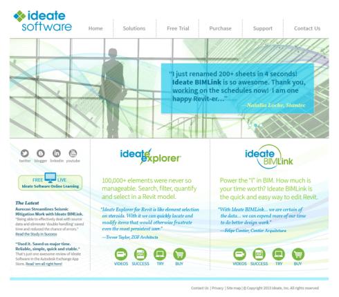 Ideate Software Web Site Design