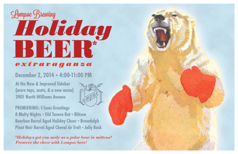 Lompoc 2014 Holiday Beer Poster