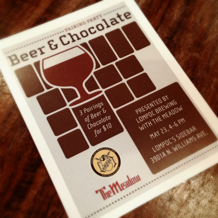 Design by Jen Lompoc Beer + Chocolate Event Flier Design