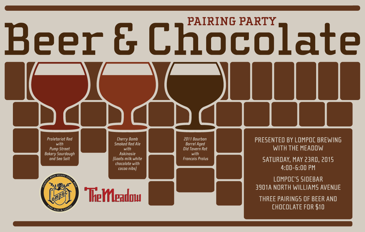 Design by Jen Lompoc Beer + Chocolate Event Poster Design