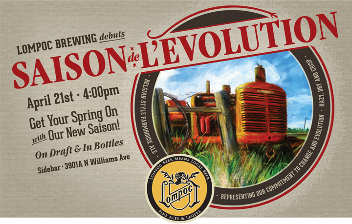 Design by Jen Lompoc Brewing Saison Beer Launch Poster Design