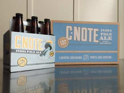 Design by Jen + Lompoc Brewing: C-Note IPA Packaging Design