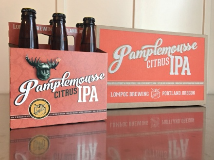 Design by Jen + Lompoc Brewing: Pamplemousse IPA Packaging Design