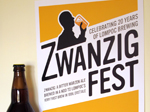 Design by Jen Lompoc Brewing Zwanzig Fest Poster and Label