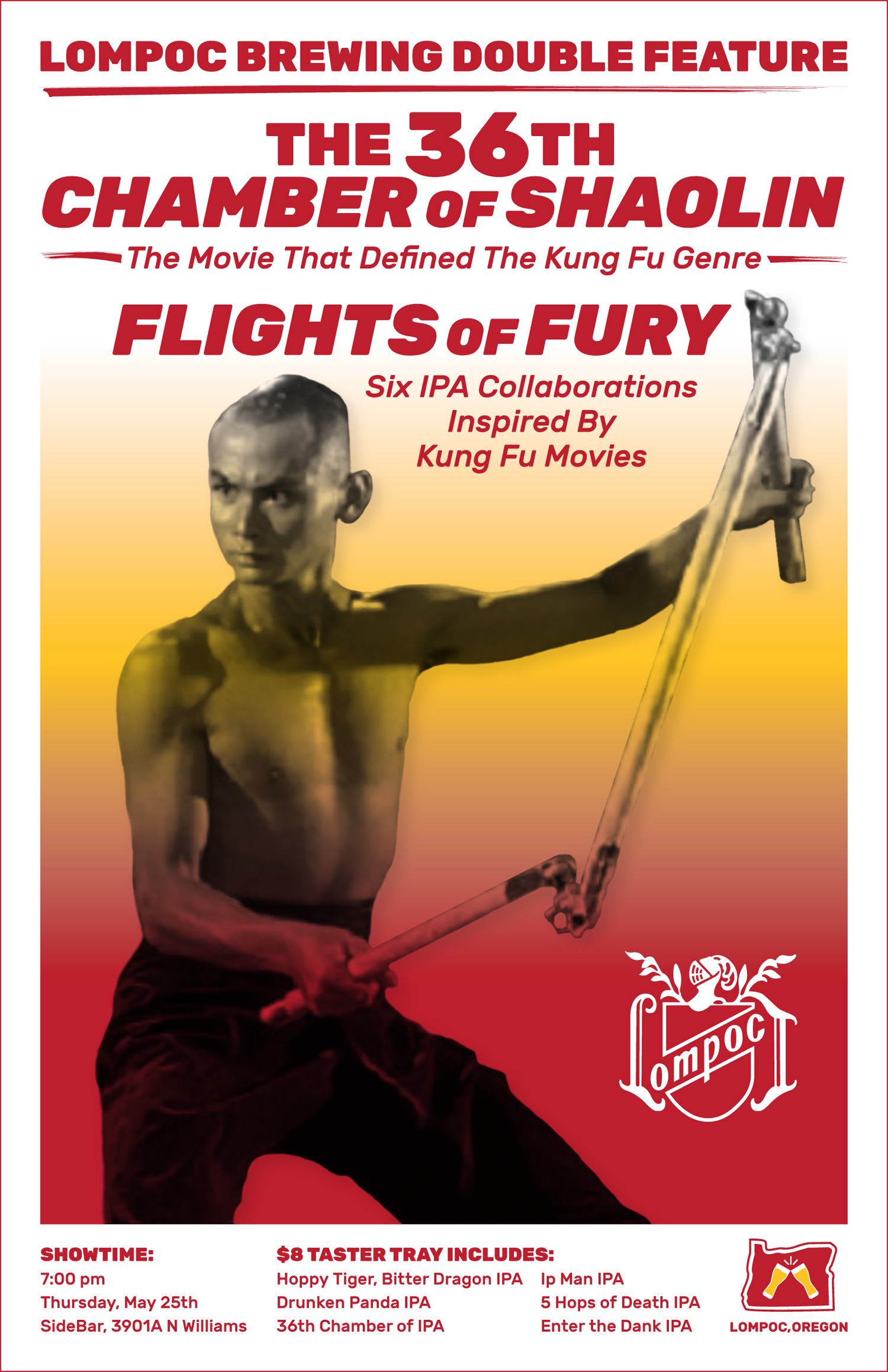 Design by Jen Lompoc Brewing Flights of Fury Poster Design
