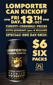 Lompoc Brewing Lomporter Beer Poster Design