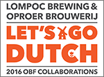 Lompoc Brewing Oproer Brouwerij Collaboration Beer Poster